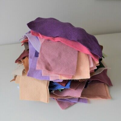Bargain Parcel of Craft Felt Scraps | Wool Mix | 450g | 100+ pieces As Pictured