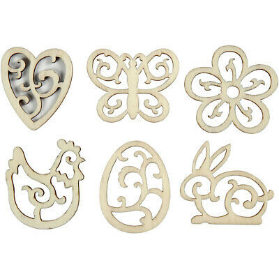 Wooden Outline Shapes Approx 4cm x 3mm - Spring Designs