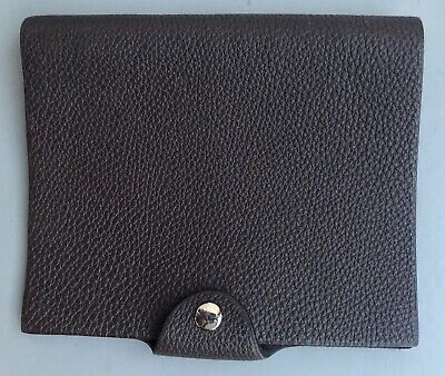 Ulysse Hermes Togo Calfskin Leather Chocolate Brown Notebook Cover