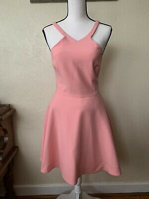 Elizabeth And James Women's Size 6 Coral Sleeveless Fit & Flare Cocktail Dress