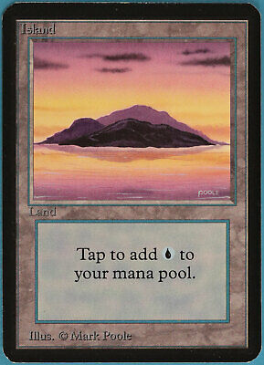 Unlimited NM Basic Land MAGIC GATHERING CARD ABUGames Island B Light Purple