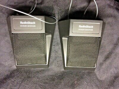 Two (2) Omnidirectional Boundary Microphones, Model 33-3022 - Free Shipping!