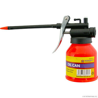 1/2 Pint Lubricants Oil Can Garage Pump Pressure Trigger With Flexible Spout