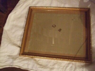 """Large vintage gold painted wooden  picture frame 12.5"""" x 15"""""""