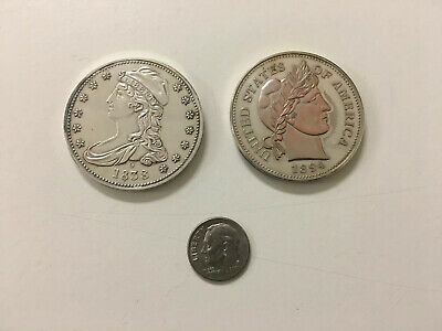 1838 Capped Bust Half Dollar 1894 Barber Dime COPIES