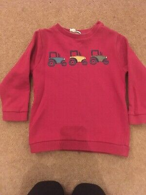 Kite, boys Red tractor jumper Age 3-4 Years