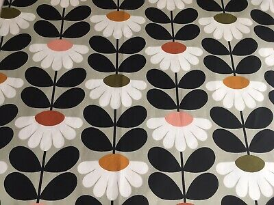 ORLA KIELY Wild Daisy Flower stem Multi FQ 50cm / 50cm Square Fabric Cotton NEW