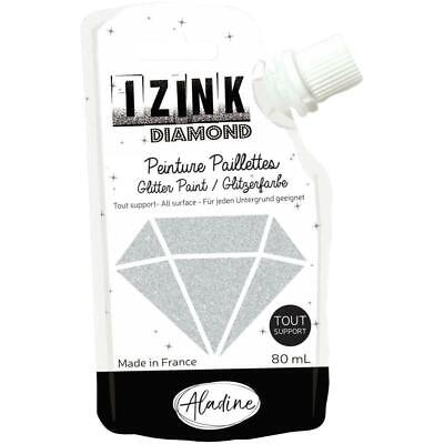IZINK Diamond Glitter Paint 80ml - Silver