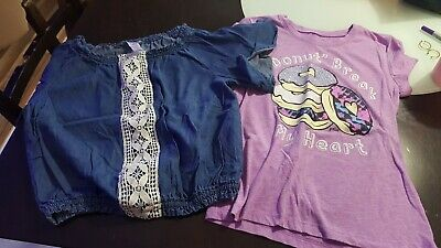 Girls Size 8 Justice Shirt Lot