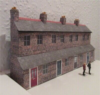 Oo Railway Scratch Built Model Low Relief Terrace Houses Suit Hornby