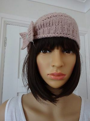 **Dusty Pink Knitted Headband**