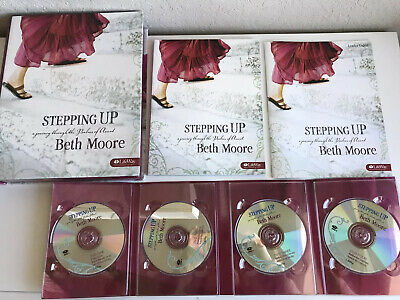 Beth Moore Stepping Up Leader Kit 4 DVDs + Guide & Member Book Bible Study EUC!