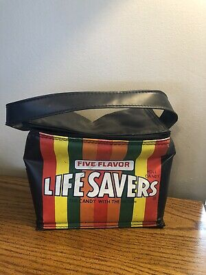 VINTAGE 1980's RETRO LIFE SAVERS CANDY ADVERTISING LUNCHBOX COOL