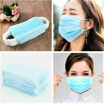 NEW Lot 1-10-50 Disposable Face Masks Surgical Medical Dental Level 1 Earloop