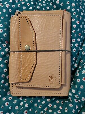 Apple Pig Authentic Leather Mix Travelers Notebook Planner w Righ Write Pocket