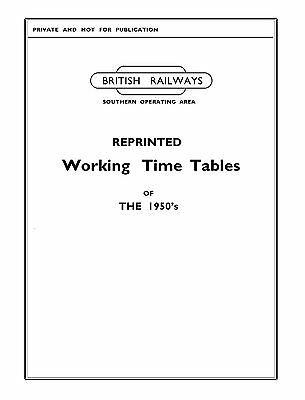 Reprinted Southern Region Working Timetable (WTT) series (1950's)