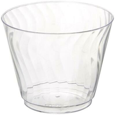 Disposable Plastic Cups Party Wedding Bulk Size 14Oz 180 CtL Chinet Cut Crystal
