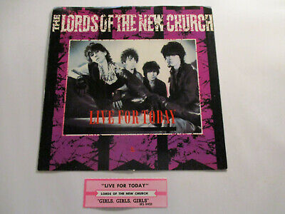 Lords Of the New Church / Honeymoon Suite Orig PS w/Jukebox strips (No Records)+