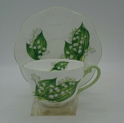 Shelley Fine Bone China Lily Of The Valley 13822 Tea Cup & Saucer Dainty