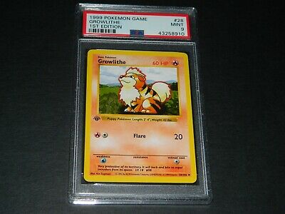 Pokemon Growlithe 28//102 Shadowless Base Set PSA 10 1999 Pokemon TCG