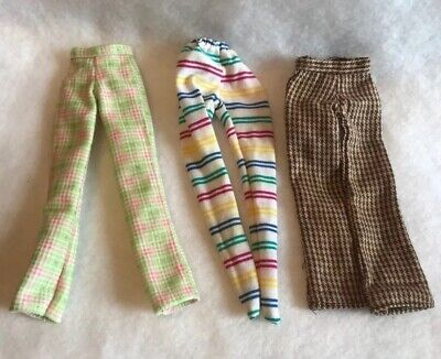 Vintage Barbie Doll Skipper Cool Sitter Green Checkers Brown Houndstooth Pants