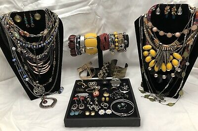 Huge Vintage to Now Jewelry Lot - Estate Find - All Wearable Pieces - 2lbs+