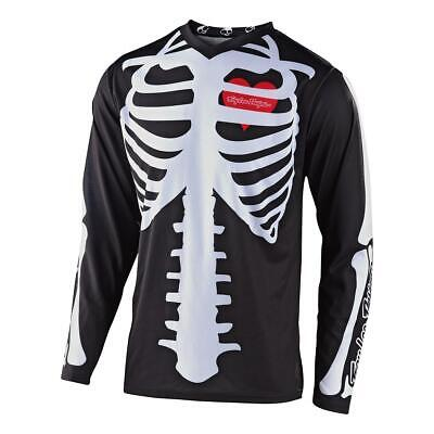 Troy Lee Designs Jersey GP Skully Schwarz/Weiß