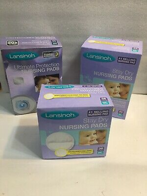 Lansinoh Nursing Pads, 3 Packs (146 Total) Ultimate Protection Disposable Pads