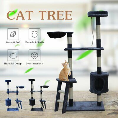 Pet Cat Tree Scratching Post Gym Play Toy House Scratcher Pole House Furniture