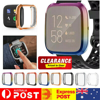 For Fitbit Versa 2 Silicone Case Soft TPU Protective Full Cover Screen Shells