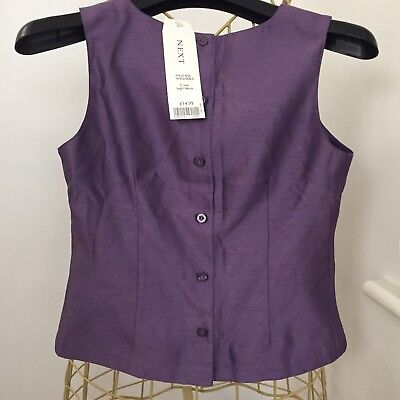 Girls  Next Purple Sleeveless Blouse Aged 11 Years - Bnwt