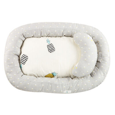 Soft Cotton Breathable Baby Lounger Snuggle Nest Sleeping Bed for Infants Baby