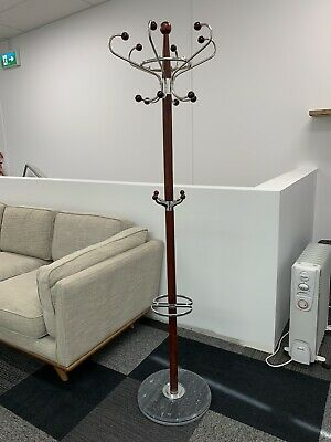 Timber Coat, Hat, Jacket And  Umbrella Stand with Marble Base Stand