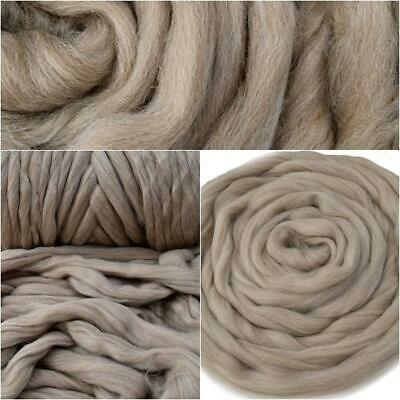 Smokey Brown Merino and Corriedale Blend Combed Wool Top / Roving