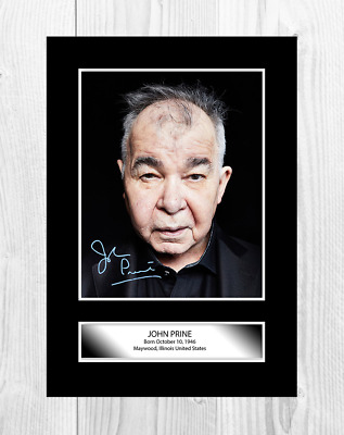 John Prine reproduction autograph A4 poster with choice of frame