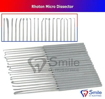 Neurosurgical Expanded Rhoton Micro Dissector Set Of 20 Surgical Instruments FDA