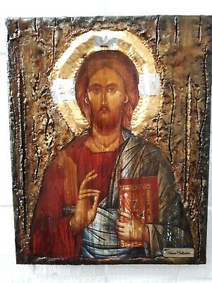 Jesus Christ the PANTOCRATOR- Orthodox Byzantine Greek Made Icon-Unique Handmade
