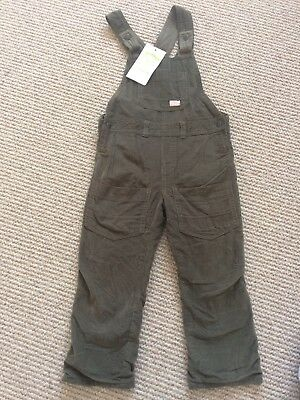 A Gorgeous Pair Of 'Vertbaudet Sage  Green Extremely Soft Cord Dungarees- New!