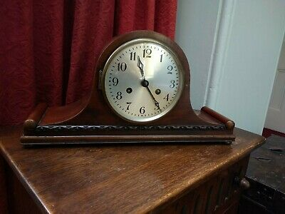 Vintage Napoleon Hat Mantle Chiming Clock British Made Movement With Key