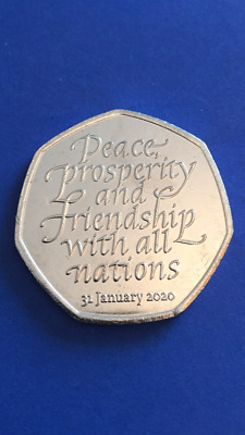 Collectable 50p Coin - Withdrawal from the European Union (2020)
