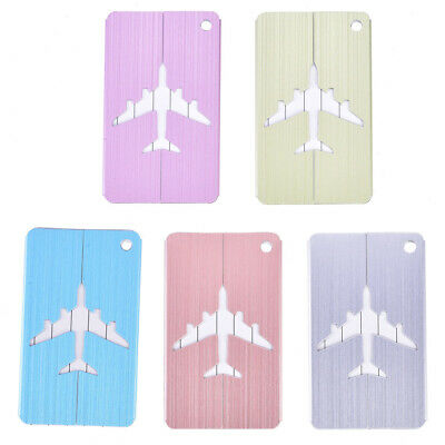 5Pcs Aluminum Alloy Baggage Luggage Suitcase Tag Address ID Identity Card A