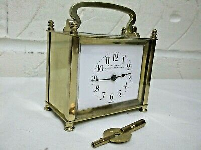 Small French 8 Day Carraige Clock In Great Workking Order +
