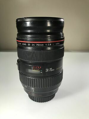GORGEOUS Canon 24-70mm f/2.8L USM Lens with Hood & Pouch - Free Shipping!