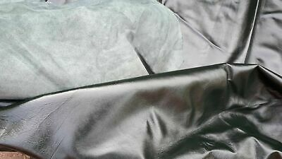 leather hide very very large 50sft quality dark green hide upholstery craft car