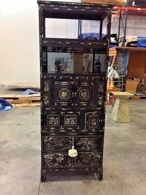 Japenese Pearl Inlay Cabinet