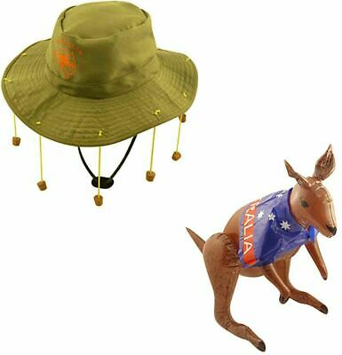 6 X AUSTRALIAN CORK HAT AUSTRALIA DAY PARTY FANCY DRESS RUGBY CRICKET SUPPORTER