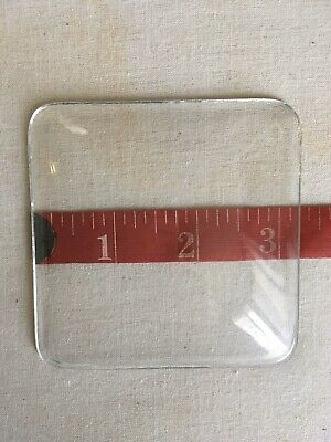 New 3.25 Inch Square Convex Clock Replacement Glass
