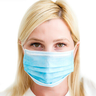 10 x 3 Layers Surgical Flu Virus Dust Face Mask Strip Medical Quality Ear Loop