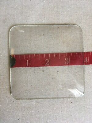 New 3.75 Inch Square Convex Clock Replacement Glass