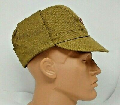 Cap Afganka + Red Star Authentic  1988  USSR Soviet and Russian Army Field